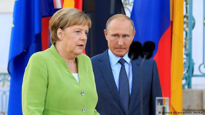 Федеральный канцлер Германии Ангела Меркель и президент России Владимир Путин (Фото из архива)