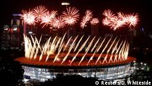 2018 Asian Games - Opening ceremony - GBK Main Stadium - Jakarta, Indonesia - August 18, 2018 - A general view of fireworks during the opening ceremony. REUTERS/Darren Whiteside