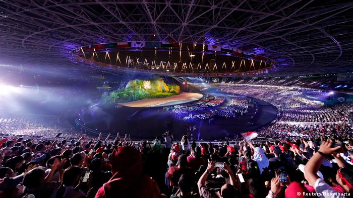 Indonesien - Erföffnung der Asienspiele 2018 in Jakarta (Reuters/Beawiharta)