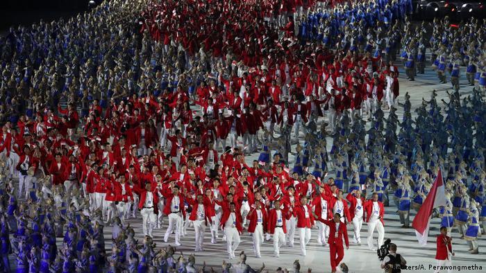 Indonesien - Erföffnung der Asienspiele 2018 in Jakarta (Reuters/A. Perawongmetha)