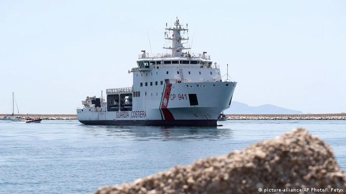 The Diciotti ship of the Italian Coast Guard,