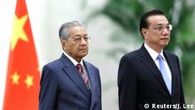 Mahathir Mohamad besucht China (Reuters/J. Lee)