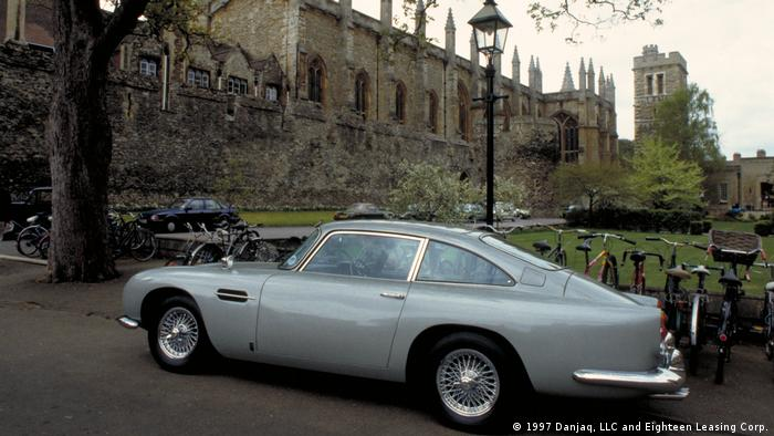 James Bond's car parked at Oxford University in 'Tomorrow Never Dies' (1997 Danjaq, LLC and Eighteen Leasing Corp.)