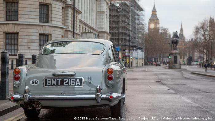Aston Martin DB5 featured in James Bond movie Goldfinger (2015 Metro-Goldwyn-Mayer Studios Inc., Danjaq, LLC and Columbia Pictures Industries, Inc.)
