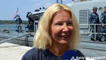 Kroatien Touristin Kay Longstaff aus Mittelmeer gerettet