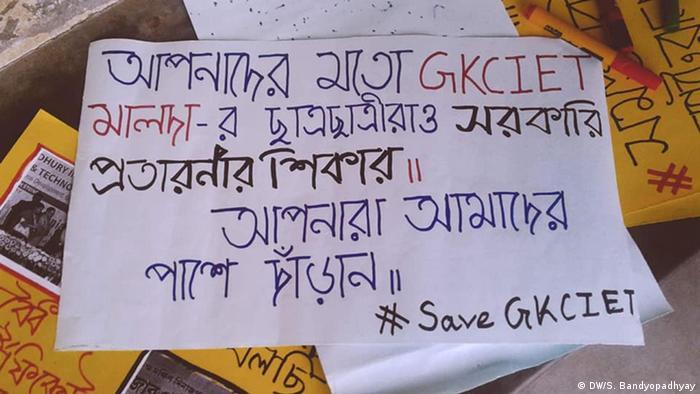 Kolkata - Studentenprotest