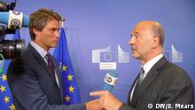Pierre Moscovici im DW-Interview