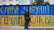 Ukraine Kiew Freiwilliger Unterstützer der Armee