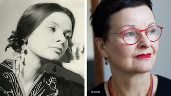 Ulrike Heider as a young and as a mature woman