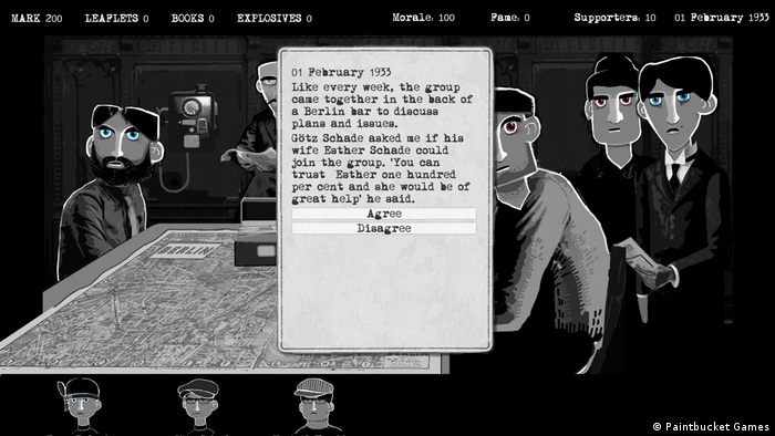 Screen shot of the video game Through The Darkest Times (Paintbucket Games)