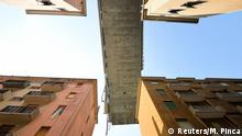 A section of the collapsed Morandi Bridge is seen above, from the red zone restricted area in Genoa, Italy August 17, 2018. REUTERS/Massimo Pinca