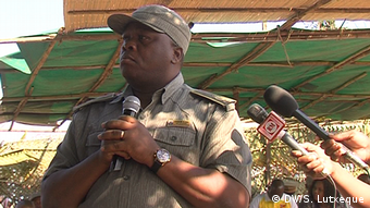 Joaquim Sive , Polizeikommandant von Cabo Delegado in Mosambik (DW/S. Lutxeque)