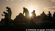 Gläubige auf dem Mount Arafat