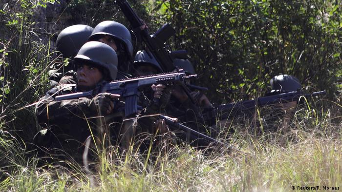 Brazilian troops involved in the operation