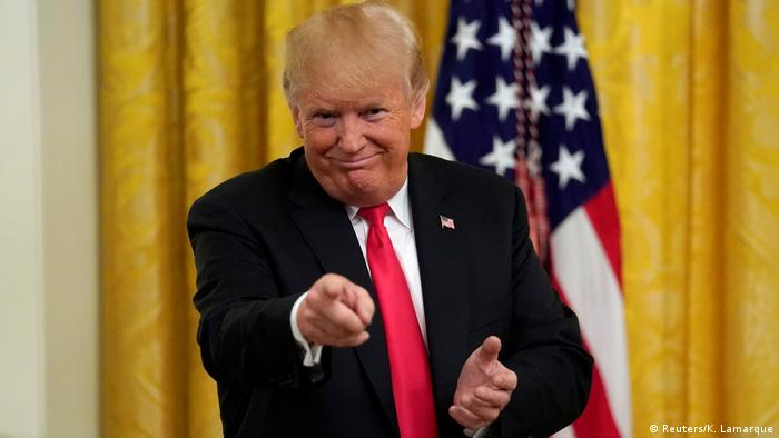 USA Donald Trump im Weißen Haus in Washington (Reuters/K. Lamarque)