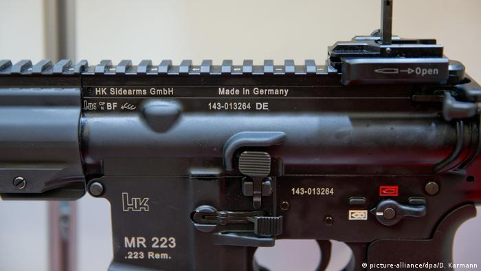 An assault rifle developed by German gunmaker Heckler & Koch