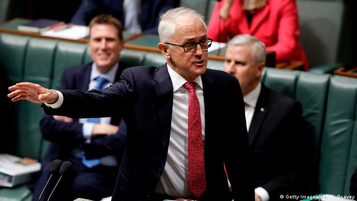 Prime Minister Malcolm Turnbull in parliament in Canberra this week (Getty Images/AFP/S. Dsavey)