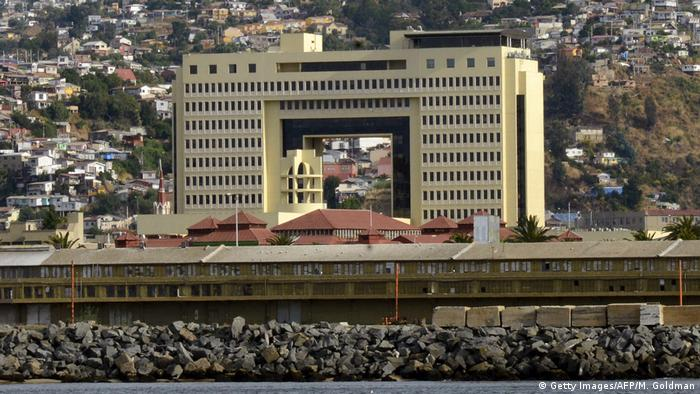 Chile Parlamentsgebäude in Valparaiso (Getty Images/AFP/M. Goldman)
