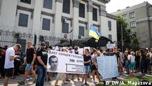 Aktion in Kiev zum Oleg Sentsov