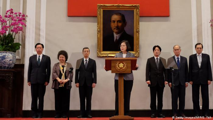 Taiwan press conference about El Salvador (Getty Images/AFP/S. Yeh)