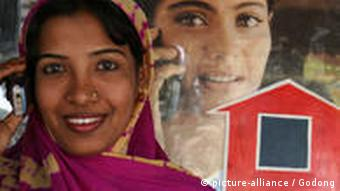Phone business financed by a Grameen Bank loan