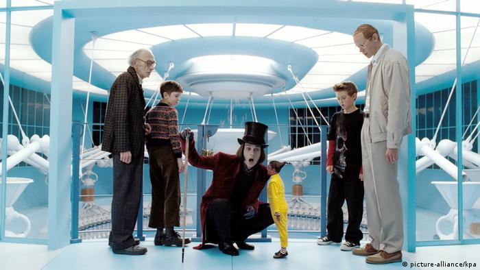 Johnny Depp in Charlie and the Chocolate Factory by Tim Burton (picture-alliance/kpa)