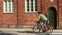 bike in the city of copenhagen denmark