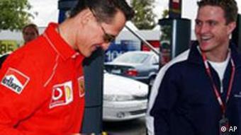 Formel 1 Brüder Michael und Ralf Schumacher