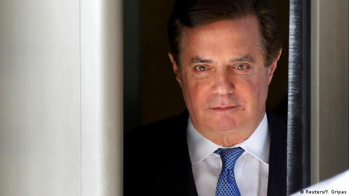 Former Trump campaign manager Paul Manafort departs from U.S. District Court in Washington