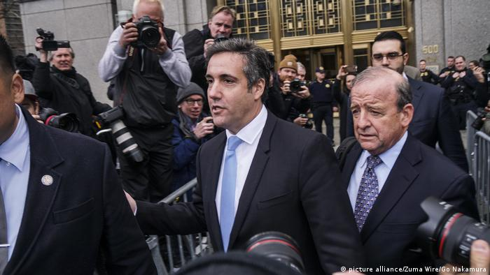 Donald Trump's former lawyer Michael Cohen leaves New York court house (picture alliance/Zuma Wire/Go Nakamura)