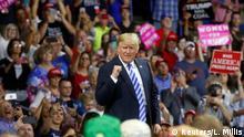 USA Virginia - Präsident Trump spricht auf der Make America Great Again Rallye