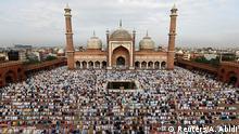 Muslims offer Eid al-Adha prayers at the Jama Masjid (Grand Mosque) in the old quarters of Delhi, India, August 22, 2018. REUTERS/Adnan Abidi