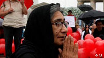 Iran Proteste vor dem Brandenburger Tor