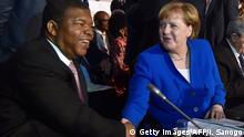Elfenbeinküste Abidjan Joao Lourenco und Angela Merkel