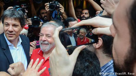 O candidato à Presidência Fernando Haddad e o ex-presidente Lula