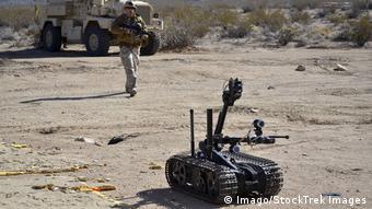 Le Talon Mark 2, développé en Californie, fait partie des armes autonomes
