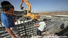 Israelischer Siedlungsbau im Westjordanland wieder aufgenommen