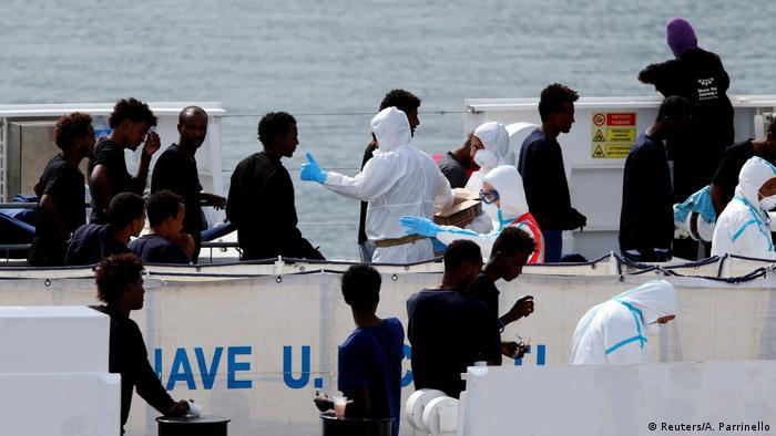 Diciotti junge Grflüchtete dürfen von Bord
