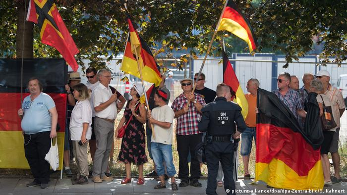 Pegida Demo in Dresden