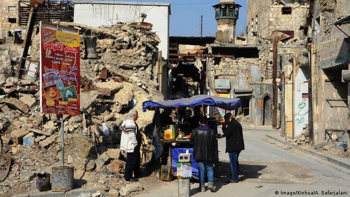 Syrien Aleppo Zerstörung und Ruinen (Imago/Xinhua/A. Safarjalani)