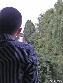 Tarek M., a Syrian refugee, in NRW