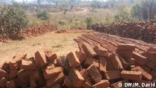 Mosambik Lichinga Produktion von Ziegeln