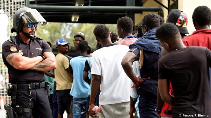 Spanien Ceuta Migranten aus Afrika