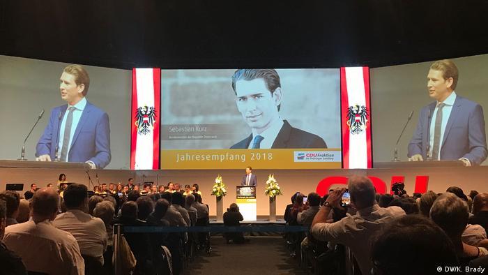 Sebastian Kurz at CDU party conference