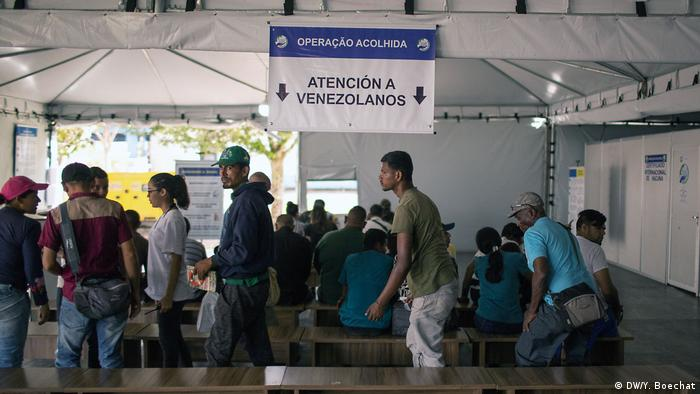 Displaced Venezuelans cross into Brazil