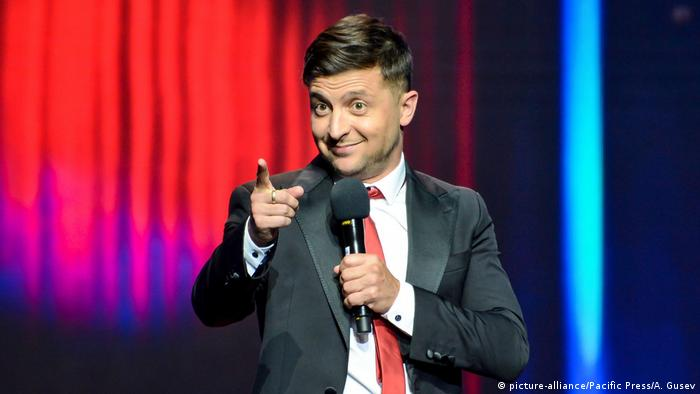 Ukrainian comedian and presidential candidate Volodymyr Zelensky (picture-alliance/Pacific Press/A. Gusev)