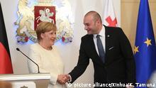 Merkel mit georgischem Premier Bachtadse