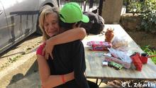 Großherzige Hilfe: Mazedonische Aktivistin Lence Zdravkin hilft und betreut die Flüchtlinge in Mazedonien