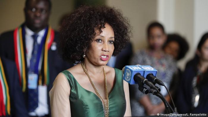 South Africa's foreign minister Lindiwe Nonceba Sisulu