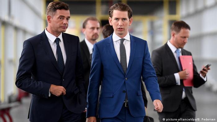 Deutschland Erfurt Jahresempfang CDU Thüringen - Mike Möhring und Sebastian Kurz